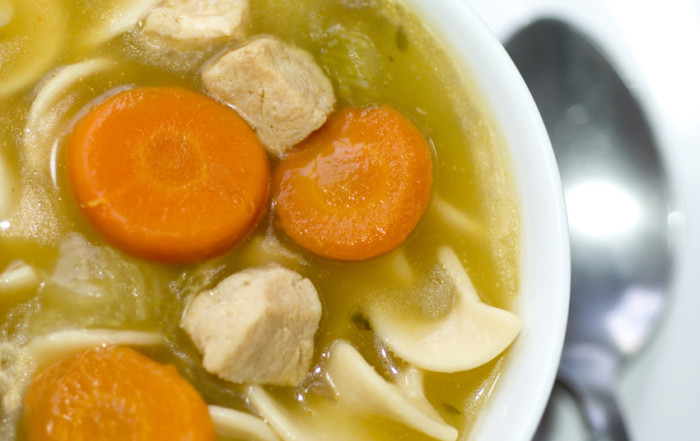 Turkey Noodle Soup with Carrots