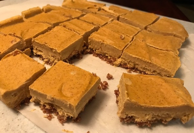 No-Bake Vegan Pumpkin bars